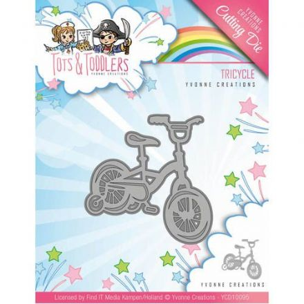 YCD10095 ~ Tots & Toddlers ~ Tricycle ~ Yvonne Creations